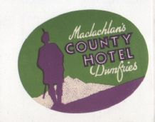 Collectible Hotel label luggage labels Scotland art deco